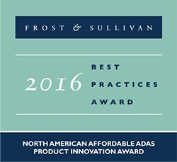 Award Frost and Sullivan affordable ADAS