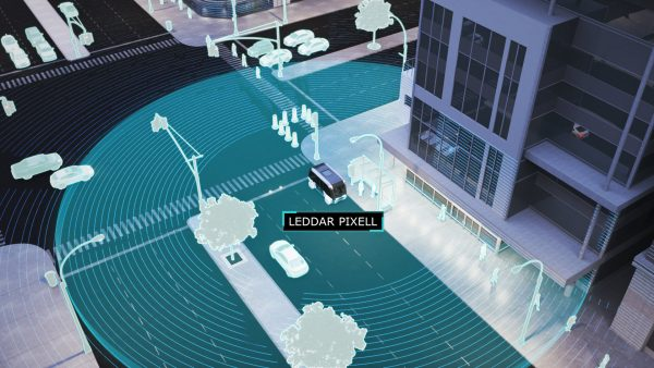 Leddar Pixell Cocoon LiDAR covers the complete dead zone around the vehicle